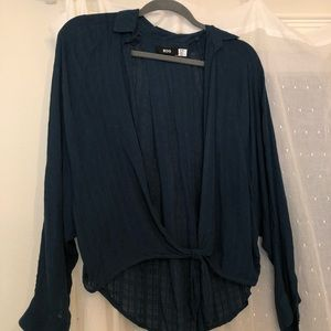 Urban outfitters tie blouse